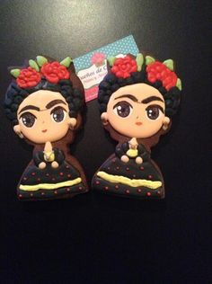 Frida Kahlo Cookies. Que hermosas galletas inspiradas en Frida Kahlo