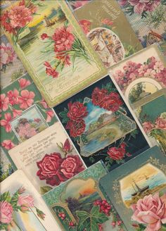 Beautiful ~Lot of 25 ~Scenes & Flowers~ Vintage Greetings Postcards-ttt184 #greetings