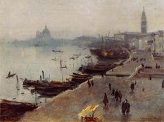 John Singer Sargent - Venice in Grey Weather, 1880-1882