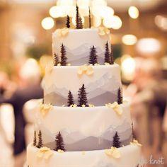 Wedding Food 24 Cozy-Chic Ideas to Create the Après Ski Wedding of Your Dreams Ski Wedding, Rustic Wedding, Woodland Wedding, Winter Wedding Cakes, Tree Wedding, Christmas Wedding Cakes, Winter Cakes, Wedding Flowers, Snowflake Wedding Cake