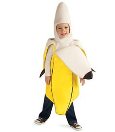 banana costume - I basically need this upside down for Felix.  Assuming he's still going to let me dress him as Nanerpus.