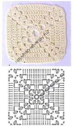 granny square crocheted                                                                                                                                                                                 Mais