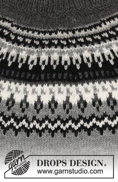 Dalvik / DROPS - Free knitting patterns by DROPS Design Free knitting instructions Record of Knitting Wool rotating, weaving and sewing jobs such as BC. Fair Isle Knitting Patterns, Jumper Patterns, Drops Patterns, Sweater Knitting Patterns, Knitting Stitches, Free Knitting, Baby Knitting, Drops Design, Tejido Fair Isle