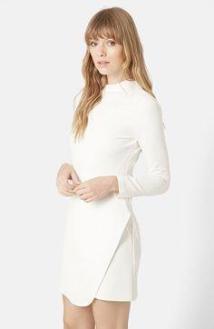 Topshop Asymmetrical Wrap Body-Con Dress