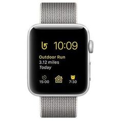 ec323ff97d8 Apple Watch Series 2 42mm Silver Aluminum Case with Pearl Woven Nylon Band