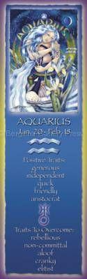 Zodiac Series / Aquarius - Bookmark by Jody Bergsma