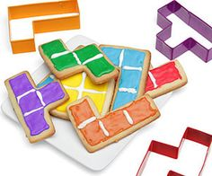 Tetris Cookie Cutters Take your love of gaming to delicious new levels when you use the Tetris cookie cutters to make your tasty treats. The cookie cutters come shaped like all the classic Tetris...