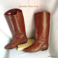 Vintage AIGNER Size 8 N Equestrian Boots / Leather by GoodEye
