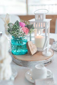 @mikaellabridal   Real Bride Melissa's Wedding Centerpieces