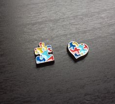 Autism Awareness Floating Charm for Floating Lockets-Gift Idea by PrettyPalazzo on Etsy https://www.etsy.com/listing/209615390/autism-awareness-floating-charm-for