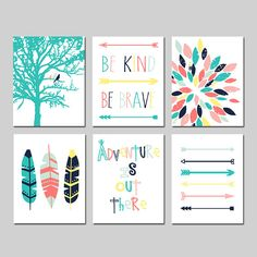 Arrow Nursery, Tribal Nursery, Girl Nursery, Girls Bedroom, Nursery Decor, Themed Nursery, Bedroom Ideas, Girls Room Wall Decor, Bedrooms