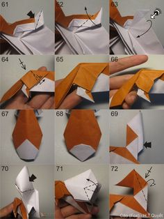 Origami for Everyone – From Beginner to Advanced – DIY Fan Origami Fox, Origami Animals, Origami Stars, Origami Easy, Paper Folding Crafts, Cool Paper Crafts, Paper Crafts Origami, Diy And Crafts, Origami Diagrams