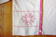 embroidered fair isle sweater diy craft project: faire isle embroidery stitch pattern