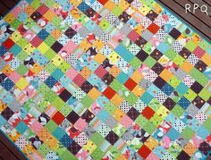 Scrappy squares quilt by marylou
