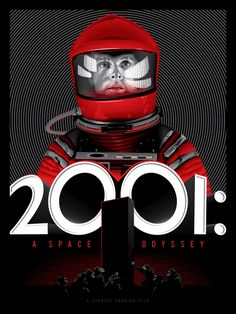 An alternative poster for Stanley Kubrick's A Space Odyssey by artist Tracie Ching. The poster was created for the exhibition KUBRICK - An Art Show Tribute, which runs Sept. at the San Francisco gallery Spoke Art. Best Movie Posters, Cinema Posters, Movie Poster Art, Fan Poster, Stanley Kubrick, Kill Bill, Sci Fi Movies, Good Movies, Laurent Durieux