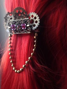Hey, I found this really awesome Etsy listing at https://www.etsy.com/listing/227071569/victorian-dangle-steampunk-hair