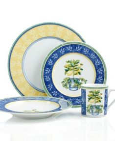 Bombay & Co, Inc. :: TABLETOP :: Dinnerware :: Blue & White Floral ...