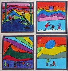 """""""In the style of Ted Harrison"""",  Grade 3"""