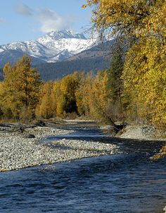 Winthrop river near Winthrop, Washington