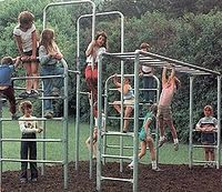 metal jungle gym :) no plastic here. I used to be able to spin around and around on the horizontal bar on our school playground, which was over concrete! In fact the entire playground was metal and concrete! My Childhood Memories, Great Memories, 90s Childhood, Nostalgia, Karate Kid, Jungle Gym, No Plastic, Thats The Way, My Memory
