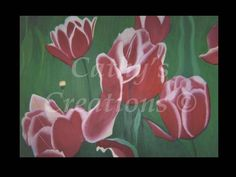 "This is a painting of my mom's tulips years ago.  She had the most beautiful tulips ever, however, they died about 6 or 7 years ago, but I have the photo so I never forget them.  My dad even said ""wow"" when he saw it up close for the first time and that was rare.  This does not have a black border around it and no frame.  It's size is 36"" x 24"" with no staples on sides.  I'm asking $500.00"