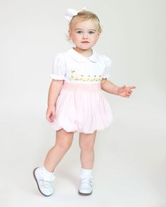 Precious embroidered and smocked bubble with duck detail on chest. Snaps in stride. Adorable for Easter or any Spring day. Boy Outfits, Children Outfits, Spring Day, Queen Of Hearts, Flower Girl Dresses, Baby Dresses, Smocking, Little Girls, Bubbles