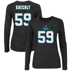 Luke Kuechly Carolina Panthers Majestic Women s Plus Size Her Catch Player  Name   Number Long Sleeve T-Shirt - Black 4208ecd35