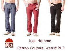 J'ai déniché des patrons gratuits à imprimer pour fabriquer son jean , modèle homme et femme ,des modèles tendance coupe droite. Une bout...