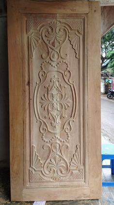 Modern Wooden Doors, Grayscale Image, Main Door Design, Bedroom Vintage, Baroque, Carving, Home Decor, Doors, Decoration Home