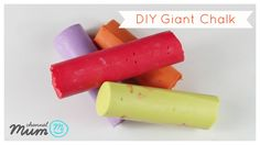 diy giant chalk - video tutorial from Little Button Diaries