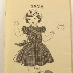 Vintage 1950s Girls Dress Pattern Panties by RebeccasVintageSalon, $8.00