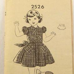 Vintage 1950s Girls Dress Pattern Panties by RebeccasVintageSalon, $8.00