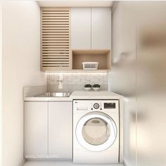 20 Brilliant Laundry Room Ideas for Small Spaces - Practical & Efficient : Life-changing small laundry room design plans Hobby Design, Diy Design, Design Ideas, Small Laundry Rooms, Small Living Rooms, Home Living Room, Basement Storage, Laundry Room Organization, Storage Room