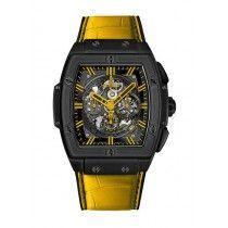 Hublot Spirit Of Big Bang All Negro Amarillo Caiman Cuero Reloj 601.CY.0190.LR