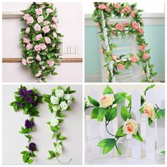 7 Colors Simulation Flower Rattan Artificial Rose Wisteria Home Wedding Party Decor