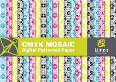 CMYK Mosaic Pattern.