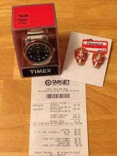 FREE Watch or Sunglasses (up to $58.99 value) at Target!  HURRY, expires 10/4/13.