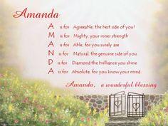 Acrostic Poem for Amanda