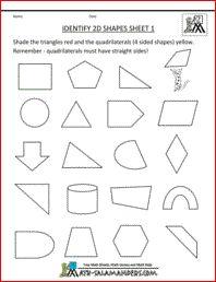 Identify 2D Shapes, basic geometry worksheets 2nd grade