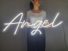 Angel neon sign,Angel neon light,Angel neon led sign,Angel led sign,Angel wall decor,Neon sign bedro