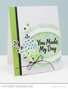 Handmade card from Barbara Anders featuring the Fresh Squeezed Chevron Paper Pack.