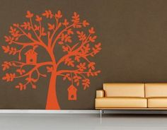Tree with Birdhouse Vinyl Wall Art Decor Decal (WD-081) | Shop wellness, fitness| Kaboodle