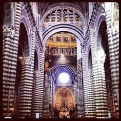 Я могу вам ответственно сообщить, что ДО того, как я увидела кафедральный собор Сиены, я не видела РОВНЫМ СЧЕТОМ ничего!1200годов постройки, материал - белый и черный каррарский  мрамор...сбивает с ног#mysiena #cantgetenough #loveactually