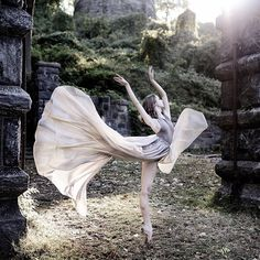 """Luis Pons Photography The Julliard School Ballerina @mikaelakellss """"All this is uncared for. Left alone in the stillness in that pure silence married to the stillness of nature."""""""