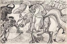 Masson, André: Tauromachie (L'Entrée de Taureau) (Tauromaquia [La entrada del toro])