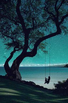 Disfruntado de las estrellas en una noche tranquila