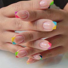Spring Nails, Summer Nails, Cute Nails, Pretty Nails, Funny Images With Quotes, Nail Photos, Nail Polish Art, Manicure E Pedicure, Rainbow Nails