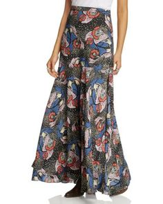 FREE PEOPLE Pebble Crepe Maxi Skirt. #freepeople #cloth #skirt