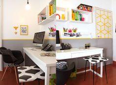 Porta com fita isolante colorida  casa-linda-escritorio-decoracao-barata9.jpg (570×418)