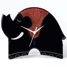 Border Fine Arts - Govinder Collection - With Love Elephant Clock - - Pink Wall Clocks, Pendulum Wall Clock, Elephant Design, I Shop, Art Projects, Contemporary Art, Sculptures, Fine Art, Pattern
